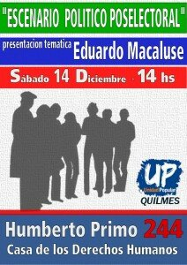 Plenario de UP Quilmes